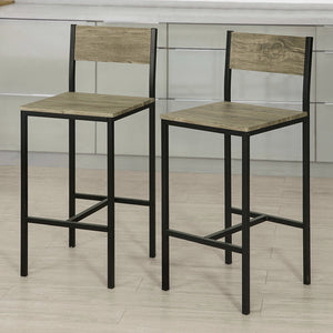 SoBuy high stool bar stool wooden bar stools FST53X2