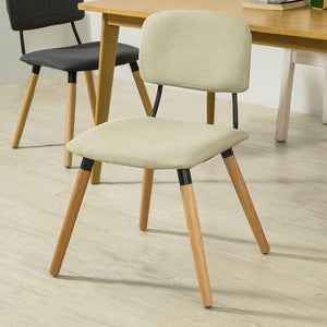 SoBuy Dining Chair Desk Chair Kitchen Chair White Fst54-Mi