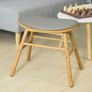 SoBuy Low Stool Wood Bench with Seat W53 * D32 * H50 cm FST56-DG