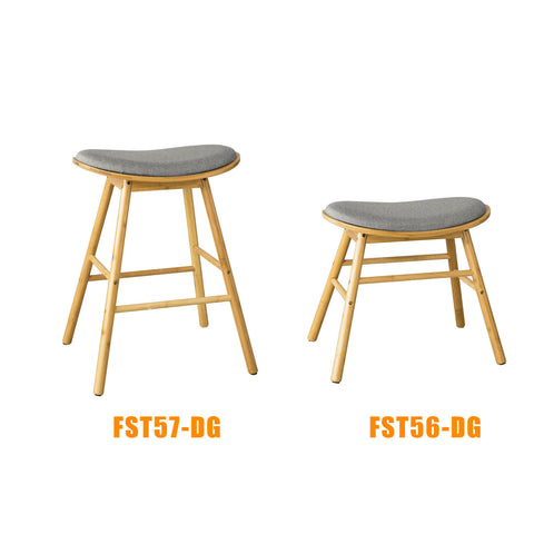 SoBuy High wooden stool Bar stools with seat W53 * D32 * H70 cm FST57-DG