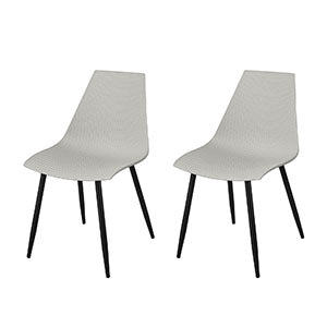 SoBuy Dining Chairs Desk Chairs Kitchen Chairs Gray 2 Pieces Fst60-Hgx2