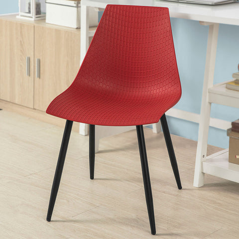 SoBuy Dining Chairs Desk Chairs Kitchen Chairs Red 2 Pieces Fst60-Rx2