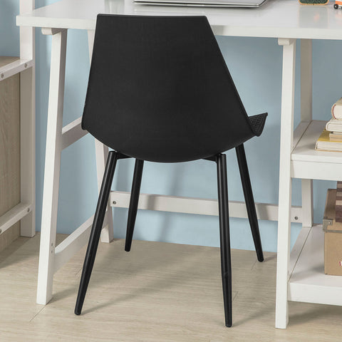 SoBuy Dining Chairs Desk Chairs Kitchen Chairs Black 2 Pieces Fst60-Schx2