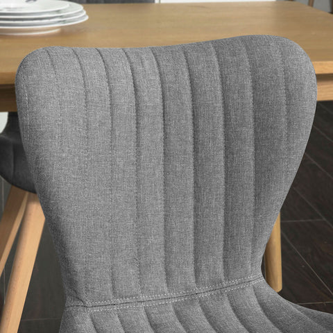 SoBuy Dining Chairs Desk Chairs Kitchen Chairs Gray 2 Pieces Fst61-Hgx2