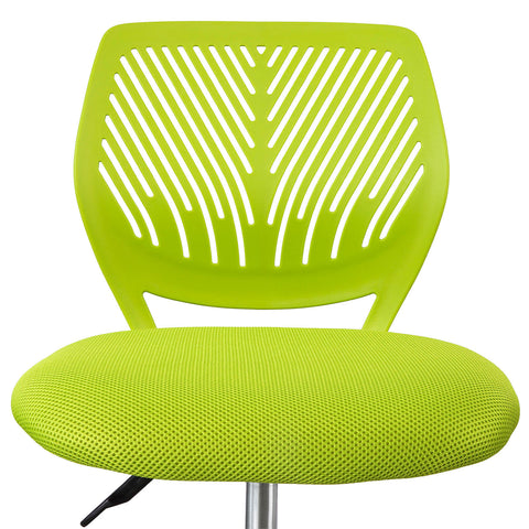 SoBuy Swivel desk chair Green bedroom chair Height 46-58cm FST64-GR