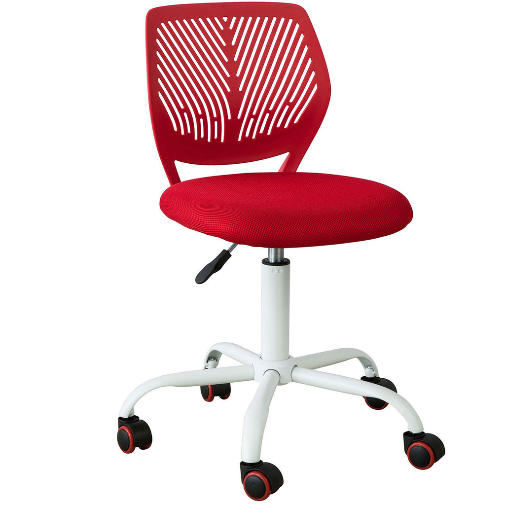 SoBuy Swivel desk chair Red bedroom chair Height 46-58cm FST64-R