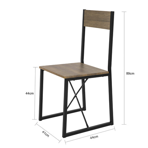 SoBuy Set 4 Vintage Style Metal and Wood Dining and Kitchen Chairs, FST67X4, IT