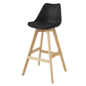 SoBuy Bar stool High kitchen stool High bar chair Seat height: 72 cm Solid black beech legs FST69-SCH