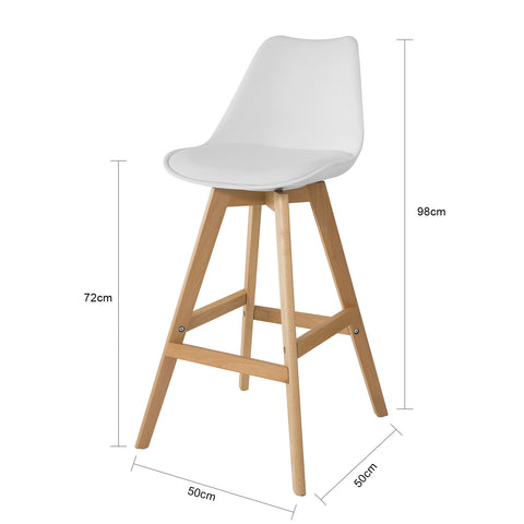 SoBuy set of 2 bar stools with footrest bar chair with backrest FST69-Wx2