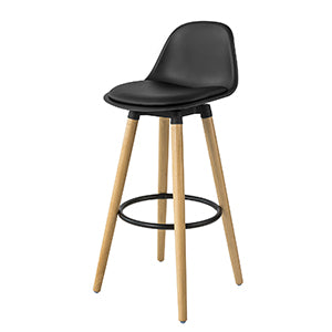 SoBuy Bar stool High kitchen stool High bar chair Seat height: 70 cm Solid black beech legs FST70-SCH