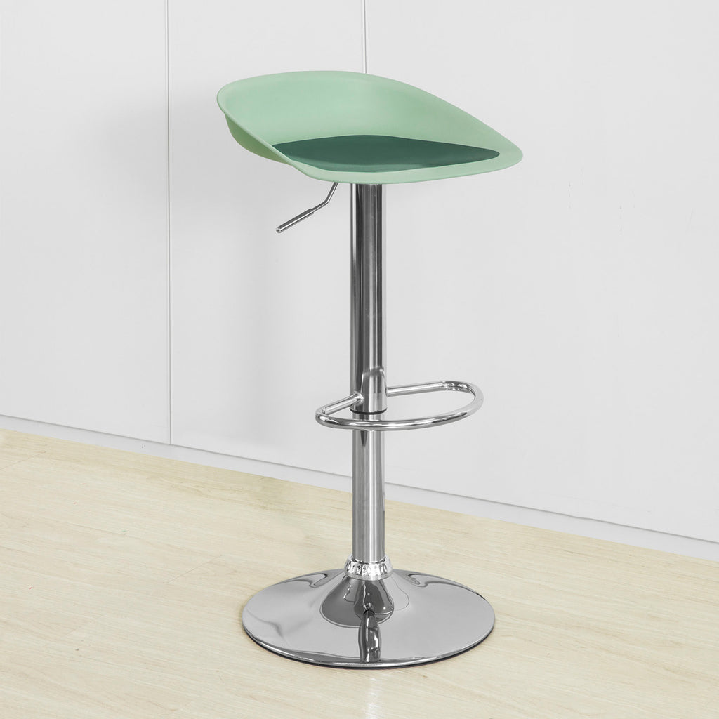 SoBuy Modern Kitchen Stools High Bar Stools Height Adjustable Bar Chairs, Green, FST75-GR
