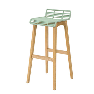 SoBuy Modern Kitchen Stools High Bar Stools Bar Chairs Wood Stool, Green, FST76-GR