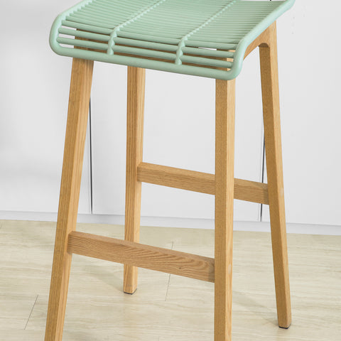 SoBuy Modern Kitchen Stools High Bar Stools Bar Bar Ξύλινα Σκαμπό, Πράσινο, FST76-GR