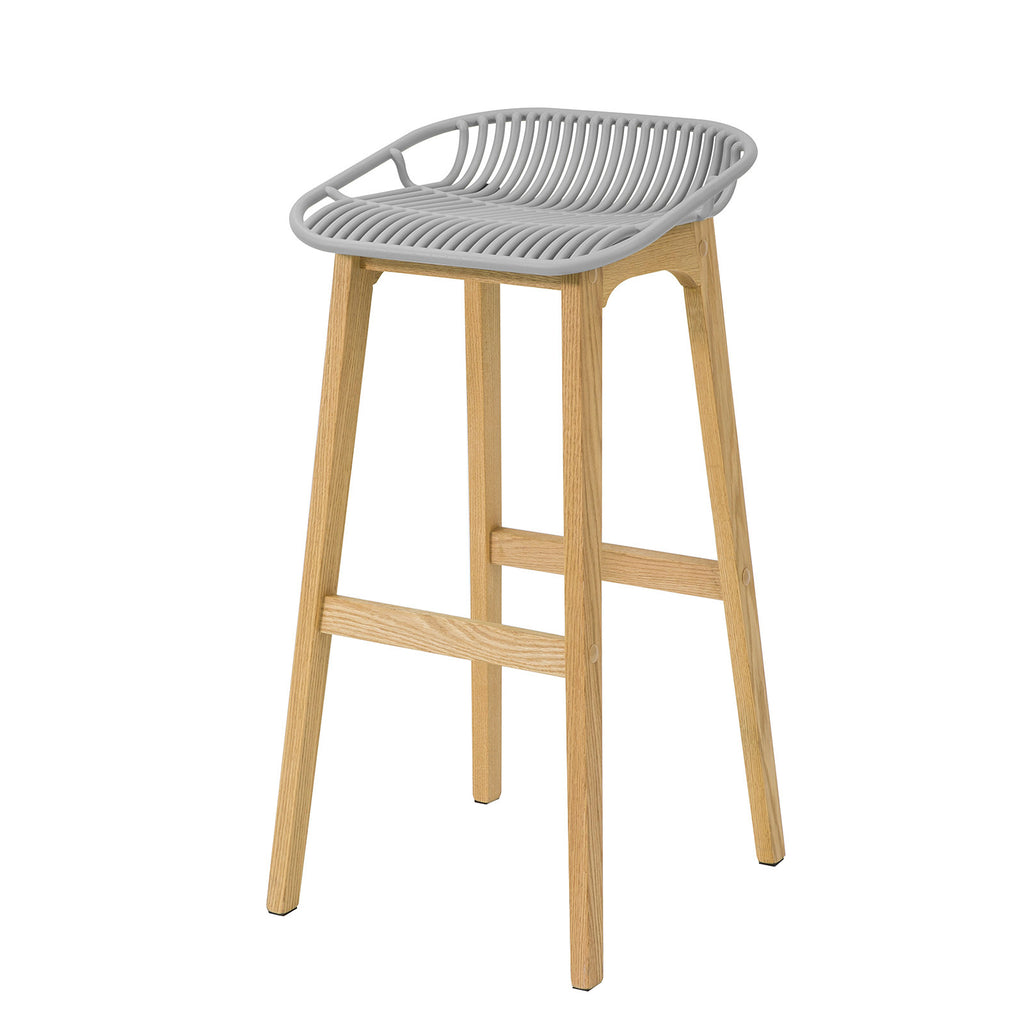 SoBuy Modern Kitchen Stools High Bar Stool Wood Stool, Grey, FST77-HG