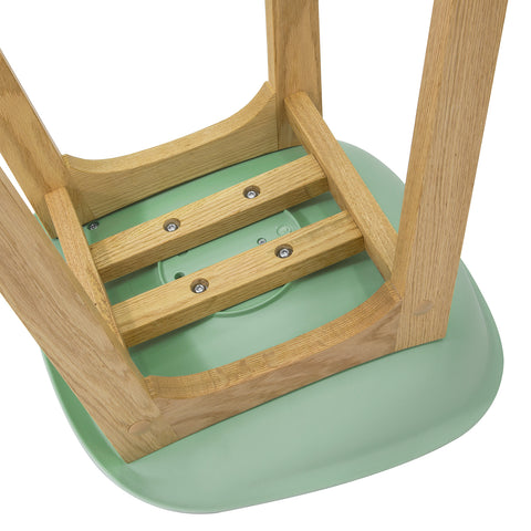 SoBuy Modern Kitchen Stools Bar Chairs Stool Wood, green, FST78-GR