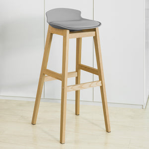 SoBuy Modern Kitchen Stools Bar Chairs Stool Wood, gray, FST79-HG