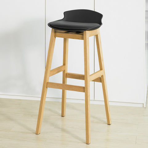 SoBuy Modern Kitchen Stools Bar Chairs Stool Wood, black, FST79-SCH