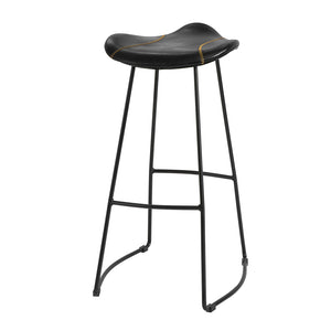 SoBuy Vintage Bar Stool Black Style Industrial Kitchen Stools Seat Height 75 cm Max Load 150 kg FST81-SCH