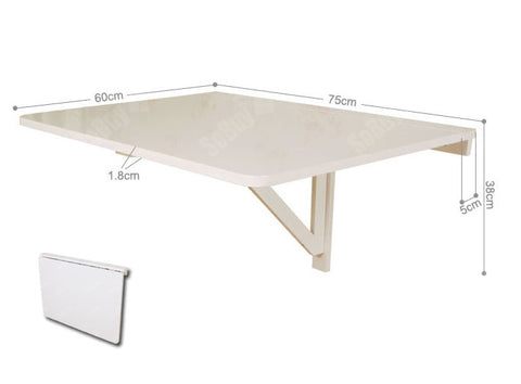 SoBuy wall table Folding Table white kitchen table FWT01-W