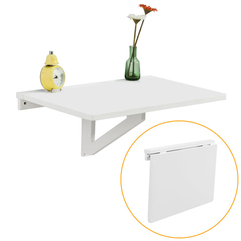 SoBuy Wall Table Folding Table Kitchen Table White FWT03-W