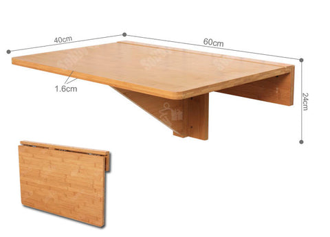 SoBuy Wall Table Folding Table Kitchen Table Wood Fwt031-N