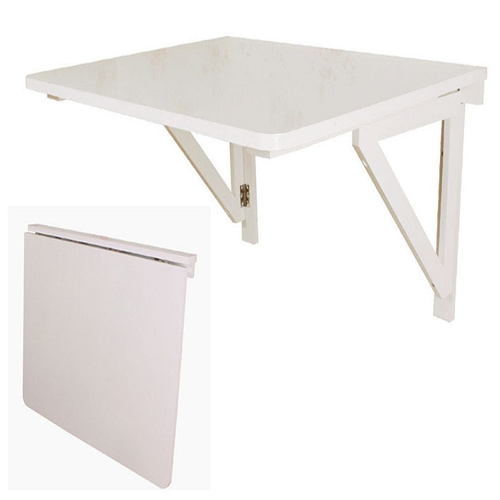 SoBuy 75 * 60cmy wooden folding wall table with two white supports FWT05-W