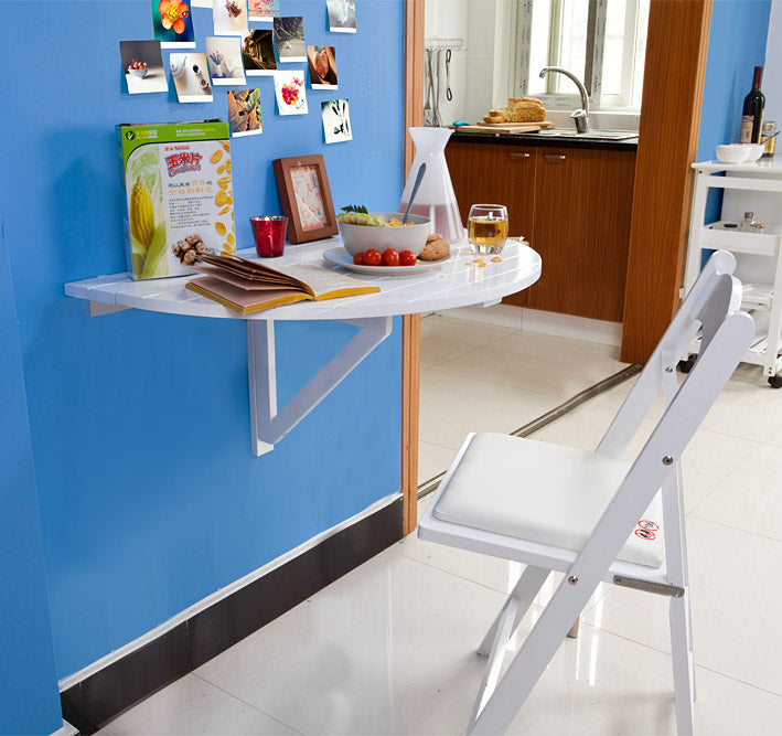 SoBuy Folding wall table, folding table, semicircular FWT10-W
