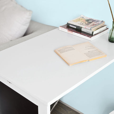 SoBuy Wall Table Folding Table White Kitchen Table With Whiteboard Fwt20-W