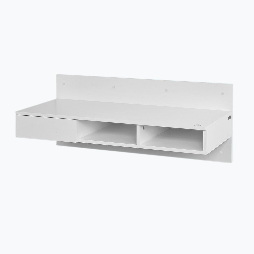 SoBuy Desk Table White Desk White With Bookcase Fwt30-W