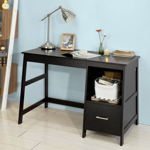 SoBuy Desk Table Black Desk With Bookcase FWT38-SCH