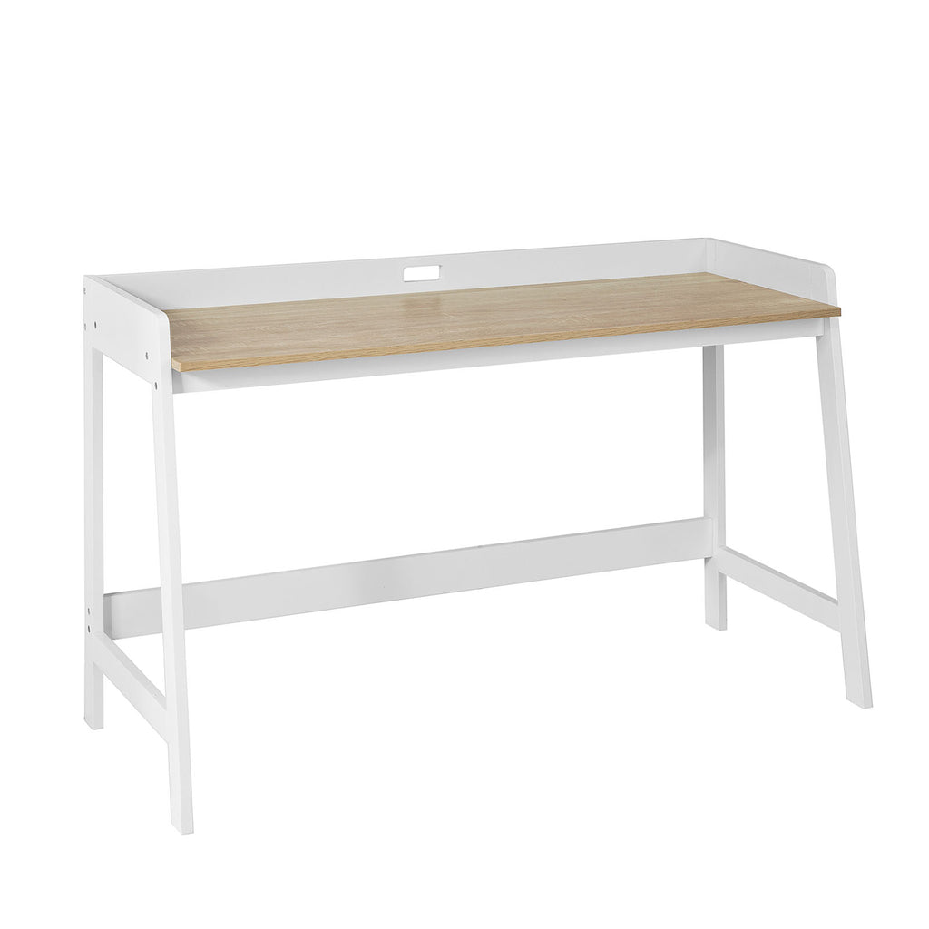 SoBuy Desk Table White White Desk With Bookcase Fwt41-Wn