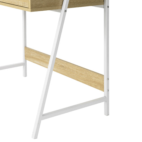 SoBuy Small Desk with bookcase, drawer and cube Table Top Size L76 * P50 * H75 cm FWT63-N