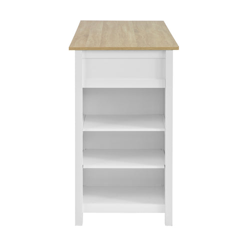 SoBuy Peninsula Kitchen High Bar Table in Wood Length: 120 cm Depth: 55 cm Height: 90 cm White FWT64-WN