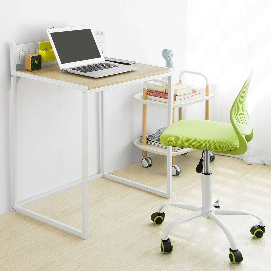 SoBuy desk for home and office wooden table desk white FWT66-WN, IT