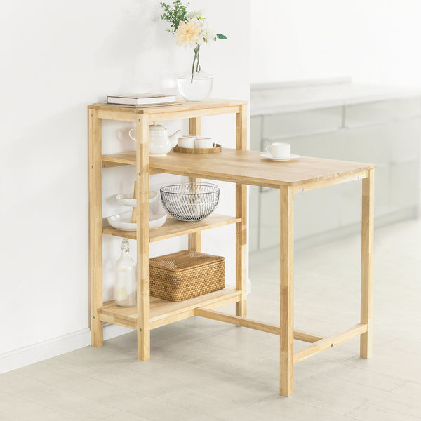 SoBuy Small Kitchen Table 4 Shelves Dining Table FWT69-N