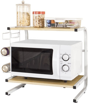 SoBuy Microwave oven Microwave oven Wooden microwave shelf Frg092-N