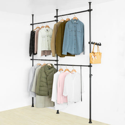 SoBuy Walk-in Closet Modular Wardrobe Coat Stand, KLS03-SCH
