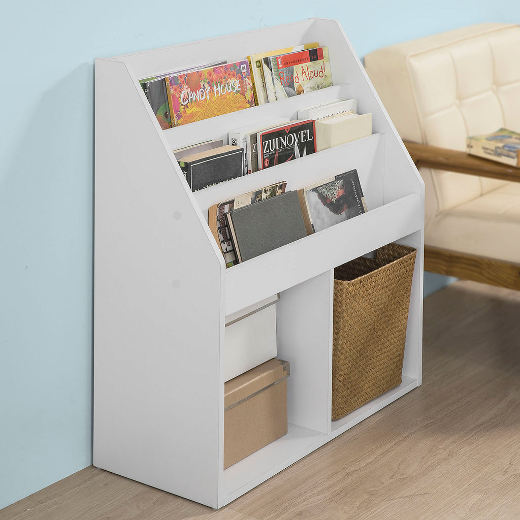 SoBuy Bookshelf Bookshelf Children Bookshelf White Kmb01-W