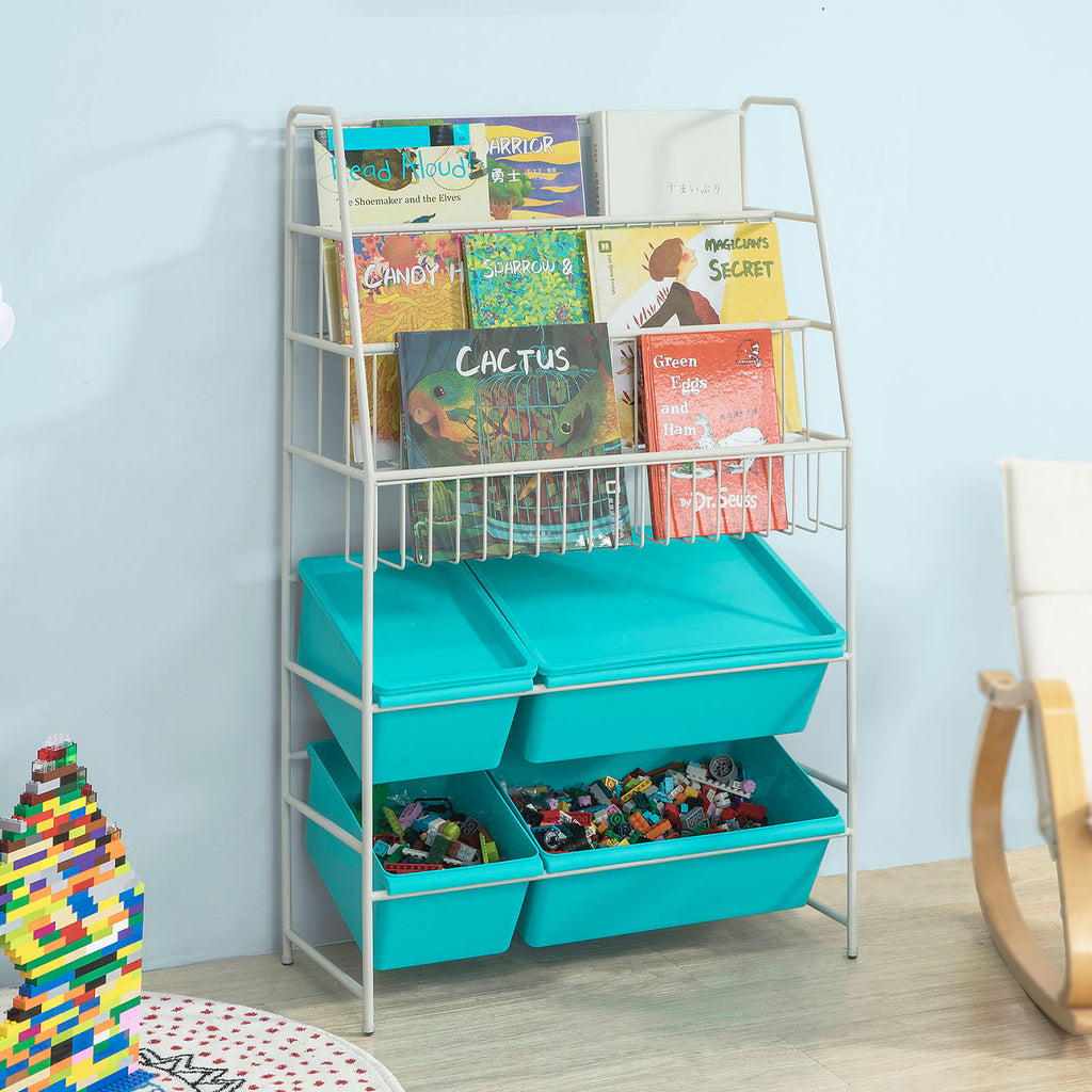 SoBuy Bookshelf Bookshelf Children Bookshelf White Kmb07-B