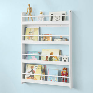 SoBuy Bookshelf Bookshelf Children Bookshelf White Kmb08-W