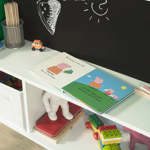 SoBuy Blackboard Toy Box Kids Magazine Rack Valge Kmb09-Gr