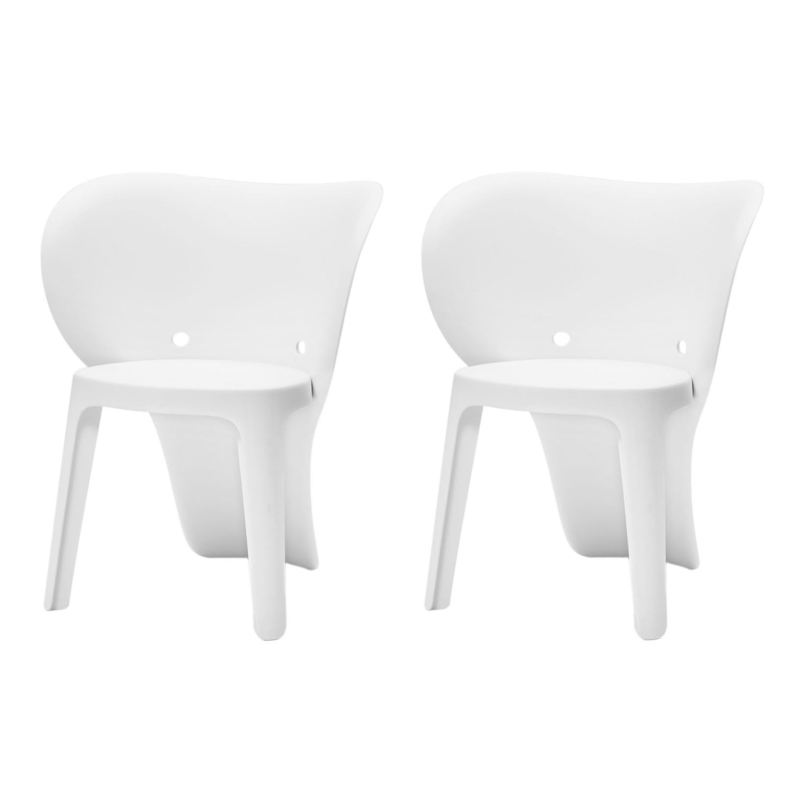 SoBuy Set 2 Children's Chairs Colored chair white children's stool Elephant Shape KMB12-Wx2
