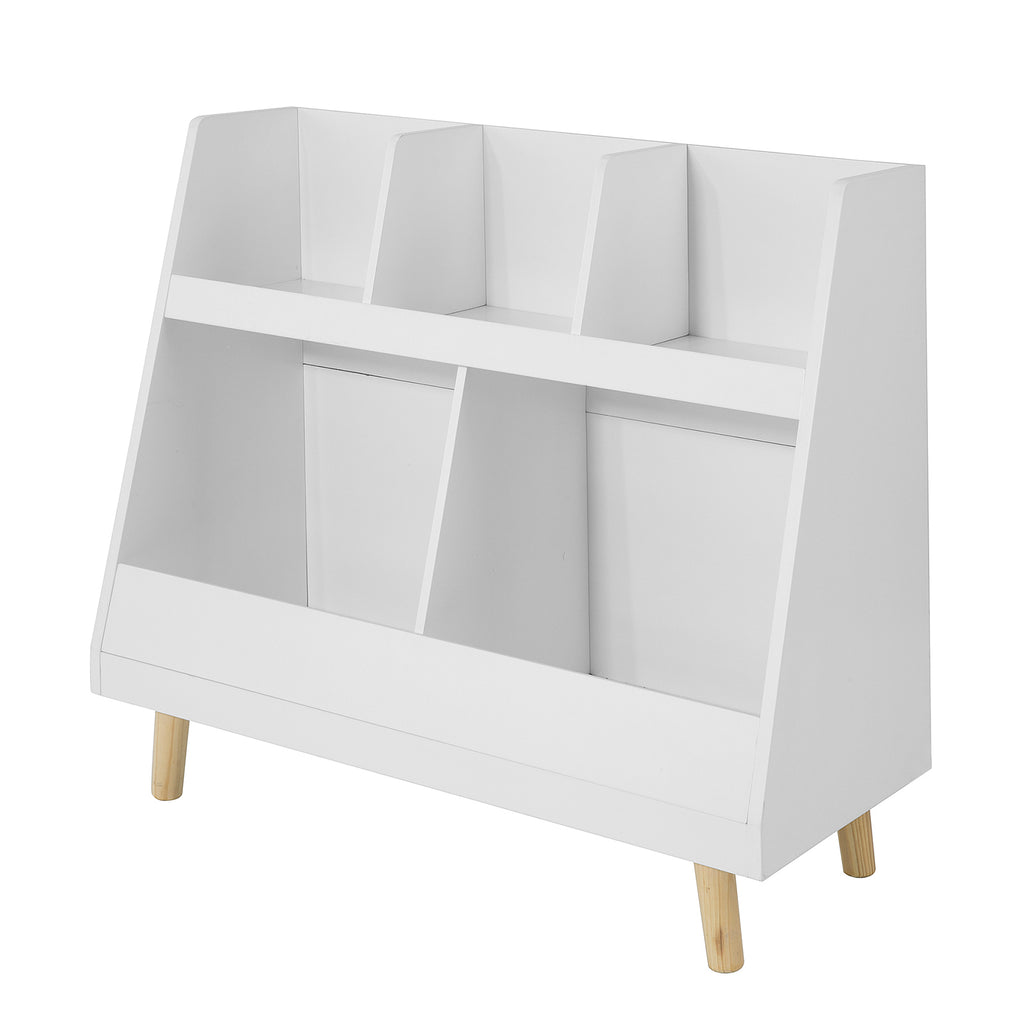 SoBuy Montessori bookcase for children Toy shelf Magazine rack KMB19-W