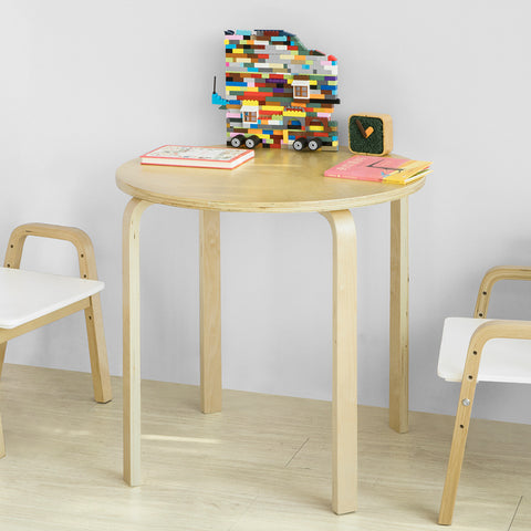 SoBuy Children Round Table in Solid Wood Class E1 Diameter 60 cm Height 57 cm KMB21-N