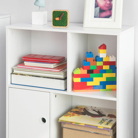 SoBuy Montessori children's bookshelf Toy shelf Magazine rack W60 * D36 * H91 cm KMB25-W