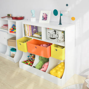 SoBuy Montessori children's bookshelf Toy shelf Magazine rack W92 * D40 * H93 cm KMB26-W
