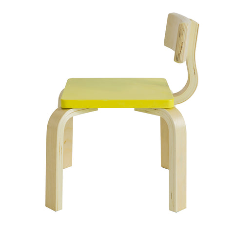 SoBuy Children's chair Children's chair in solid birch wood, Seat measurements: W26 * D26 * H26 cm Yellow KMB29-GR