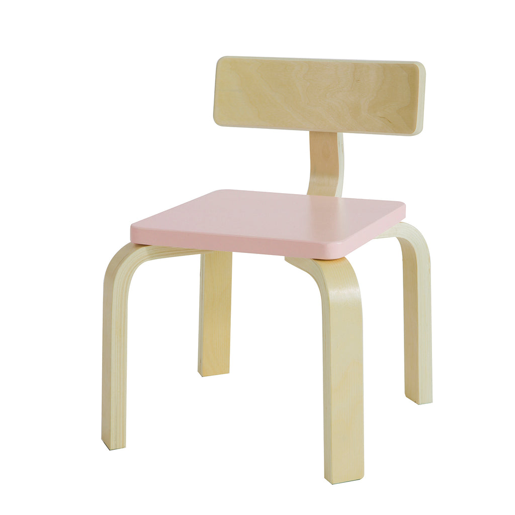 SoBuy Children's chair Children's chair in solid birch wood, Seat measurements: W26 * D26 * H26 cm Pink KMB29-P
