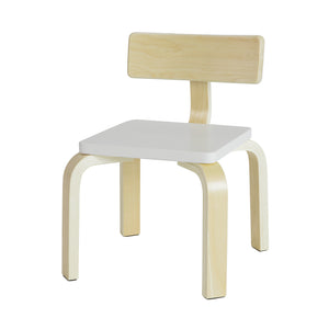 SoBuy Children's chair Children's chair in solid birch wood, Seat measurements: W26 * D26 * H26 cm White KMB29-W