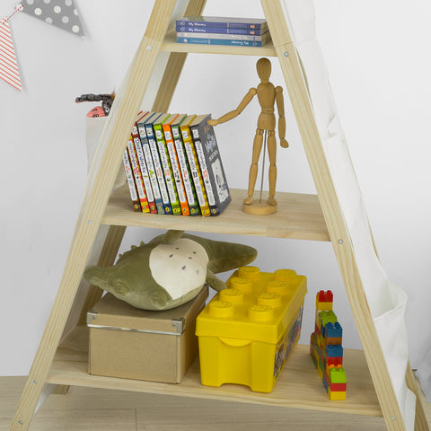SoBuy Children's Bookshelf Toy shelf Magazine rack KMB30-WN